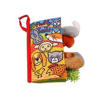English Language Soft Fabric Cloth Book 0~12 Months Animal Style Baby Toys Hot Early Development Books Learning&Education Toy(China)