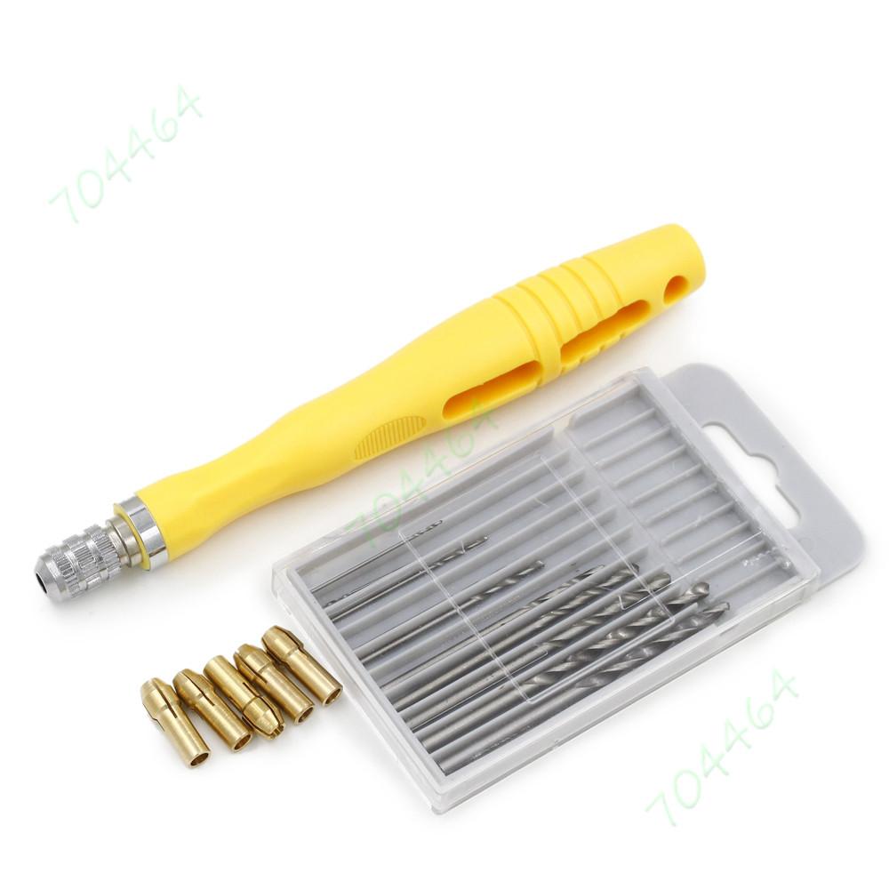 Diy Pcb Walnut Berlubang 55 Micro Drilling Alat Tangan W 5 Collet Bolong 10 Pcmicro Bor