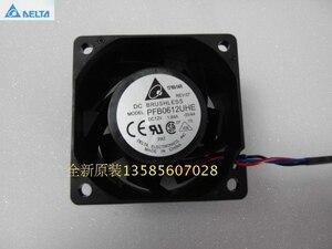 Para delta pfb0612uhe 6038 60*60*38mm 12 v 1.68a ventilador fluxo de ar 12000 rpm 67.85cfm
