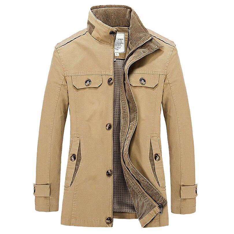 Spring and Autumn Mens Stand Collar Jacket Coat Windbreaker Casual Coat Men xxxl Fashion Trench Coat Men Slim Fit Trench Coat