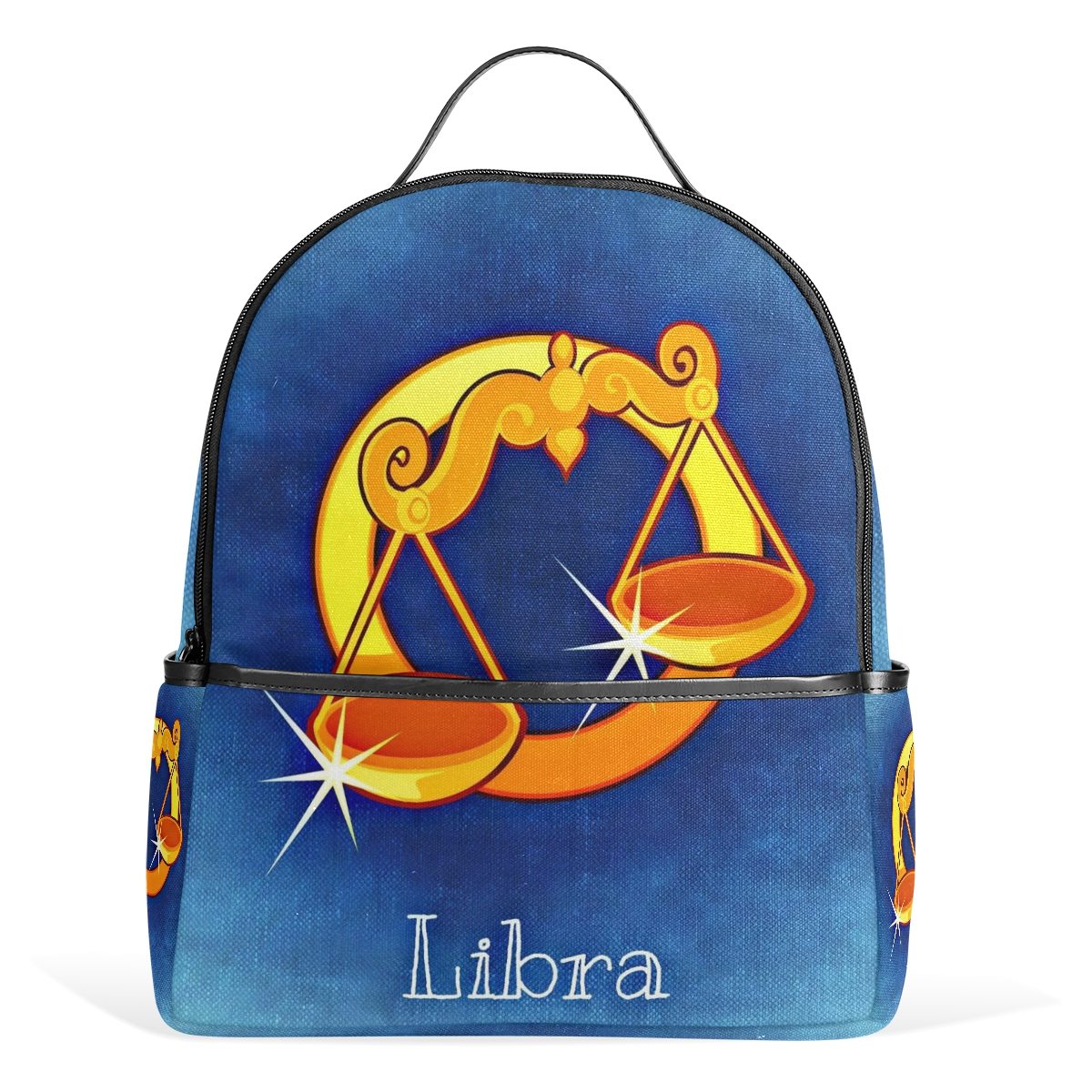 Bags for high school students - Libra Funny Printing Canvas Backpack Junior High School Students Schoolbag Laptop Bag Back Pack Girls Boys Gift In Backpacks From Luggage Bags On