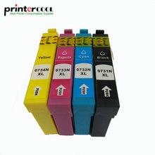 4pcs/Set T0731N T0731 - T0734 Compatible Ink Cartridge for Epson cx7300 CX8300 CX3900 CX4900 CX5900 TX210 TX105 TX200 Printer цена в Москве и Питере