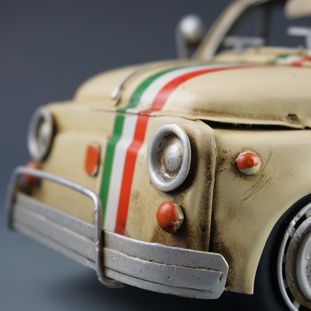 Antique Classical Car Model Retro Vintage Wrought Handmade Metal Crafts  Fiat500 For Home/pub/cafe Decoration Or Birthday Gift In Figurines U0026  Miniatures From ...