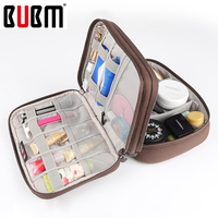 BUBM Lovely Portalbe Makeup Cosmetic Bag Storage Organizer Travel Bag Women Cosmetics Toiletry Character Cosmetic Cases