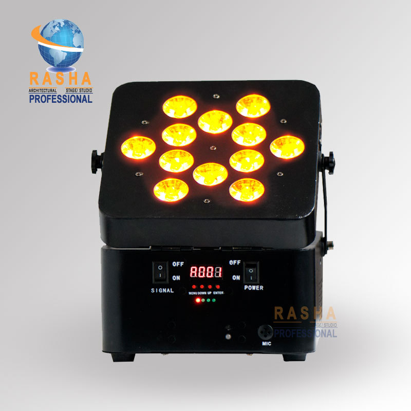 NEW Arrival Freedoom 12pcs*18W 6in1 RGBAW UV Battery Powerered Wireless LED Par Can Wireless LED Par Light Stage Light