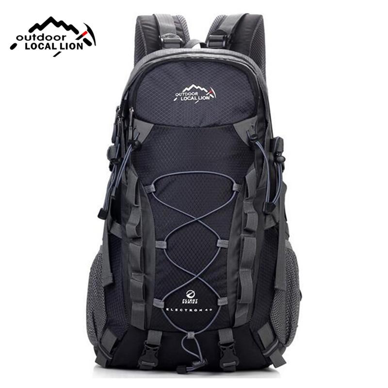 LOCALLION Brand 40L Outdoor Sports Backpack for Hiking Camping Climbing Fishing Women Men Waterproof Nylon Big Knapsack XA562YL 2016 brand 40l waterproof nylon women