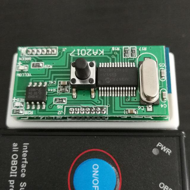 ELM327 V1.5 PIC18F25K80 Chip OBD2 Code Reader Bluetooth J1850 Power Switch on/off 12V OBDII ELM 327 Diagnostic tool Scanner