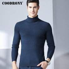COODRONY Turtleneck Men Sweater Thick Warm Merino Wool Mens Sweaters 2018 Winter Christmas Cashmere Pullover Men Pull Homme 8332