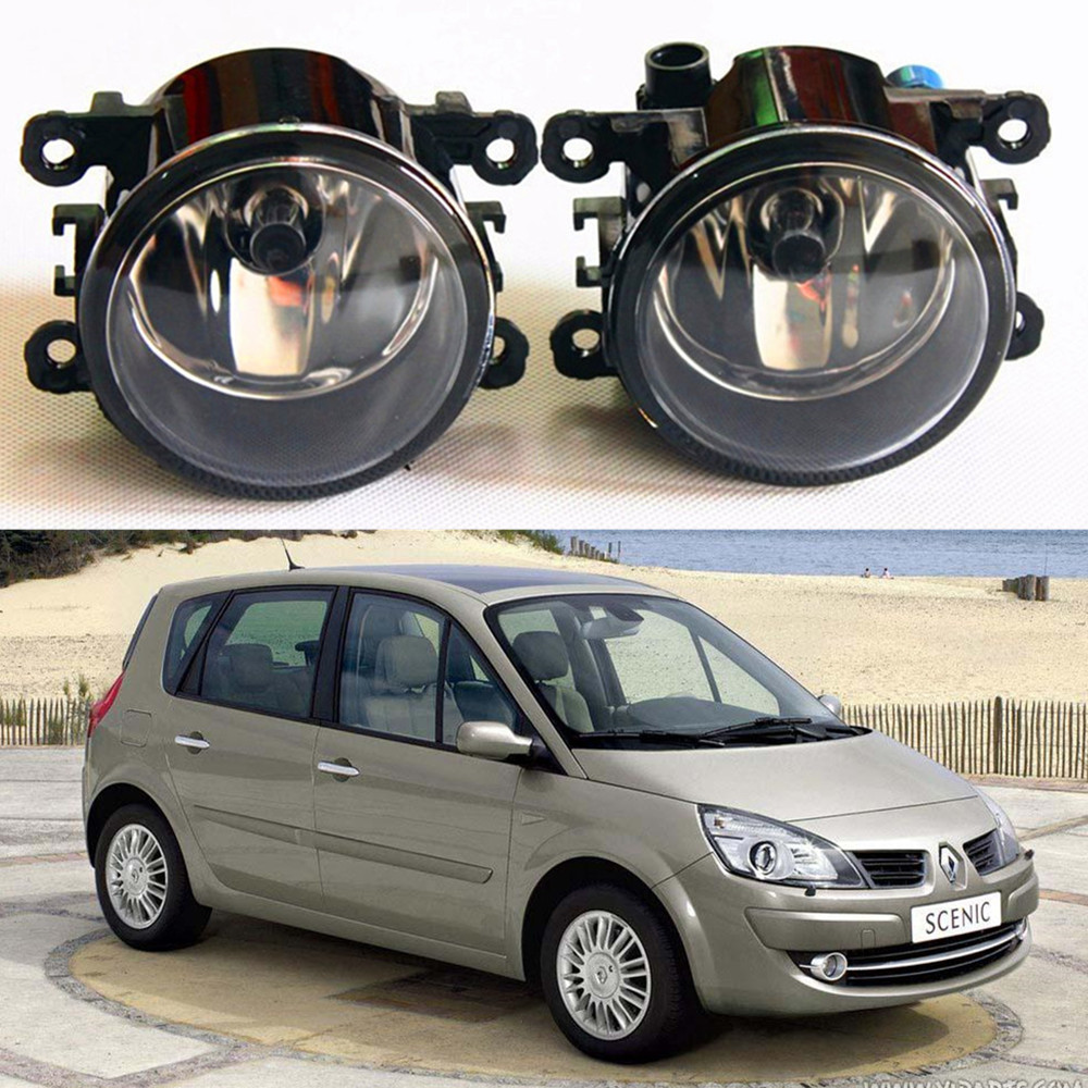 For RENAULT GRAND SCENIC II JM0 JM1 MPV  2004-2015  car light sources Fog Lamps Car styling Fog Lights Halogen 1SET куплю тормозные колодки на renault scenic rx4
