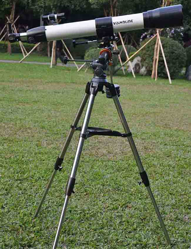 Visionking 90mm 90-1000 Equatorial Mount Space Refractor Astronomical Telescope Outdoor Sky Observation Astronomy Telescope 90