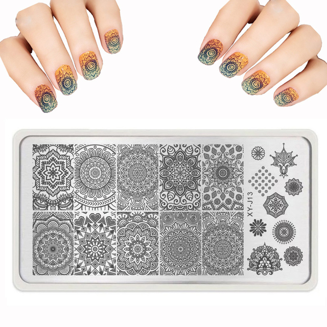 Aliexpress.com : Buy lot Nail Art Templates Round Lace Stencils for ...