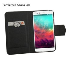 5 Colors Super! Vernee Apollo Lite Phone Case Leather Cover,2017 Factory Direct Fashion Luxury Full Flip Stand Phone Cases