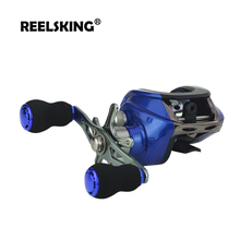 hot deal buy reelsking magnetic brake system baitcasting reel 8kg max drag 17+1 bbs 6.3:1 high speed fishing reel 3 colors to choose