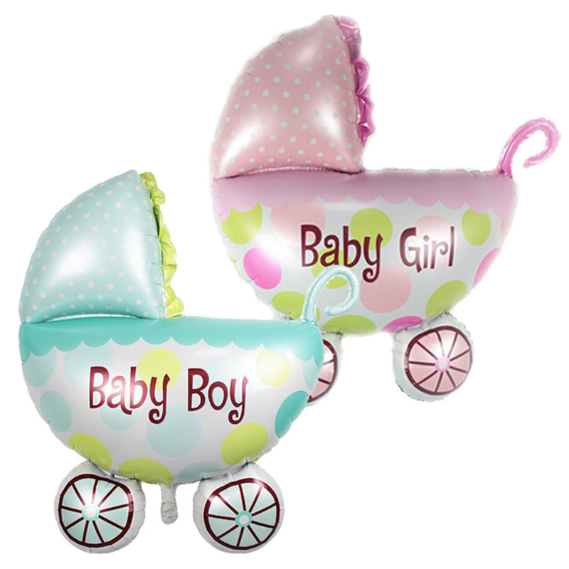 ᗑ10 unids/lote Baby Shower Grande Globos de papel de Aluminio Carro ...