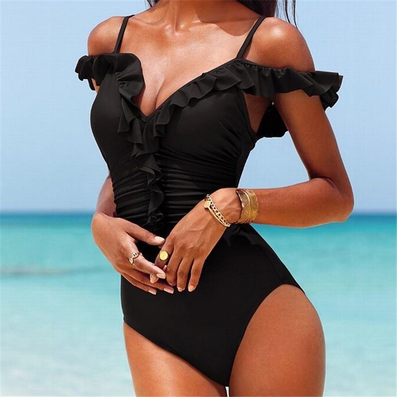 2017 Sexy High Cut One Piece Swimwear Monokini Backless Beachwear Swimsuit Beach Bathing Suit Monokini Swimming Trikinis