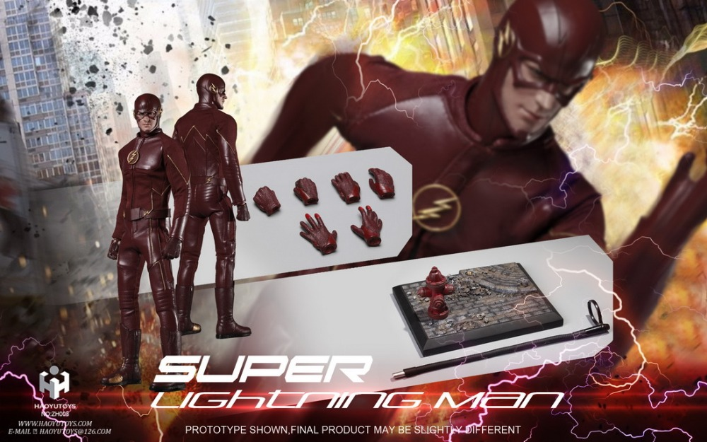 1:6 scale figure doll Grant Gustin The Flash Lightning Man Barry Allen 12 Action figure doll Collectible model plastic toy 1 6 scale figure doll terminator3 rise of the machines fembot t x 12 action figure doll collectible model plastic toy