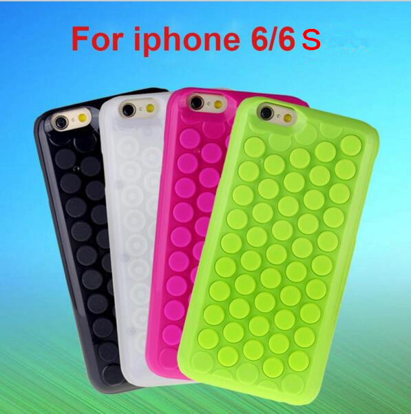 New Japan Relax Funny Decompression Puchi Bubble Wrap Phone Cases for iPhone 6 6s 4.7 inch Cover