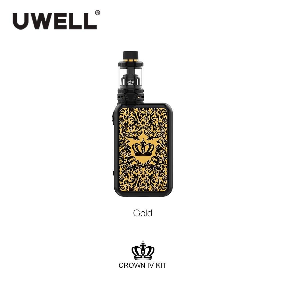 Uwell Crown IV Корона 4 комплект с 5 мл КОРОНА 4 танк распылитель 5-200 Вт Корона IV коробка мод электронная сигарета комплект VS перетащите 2