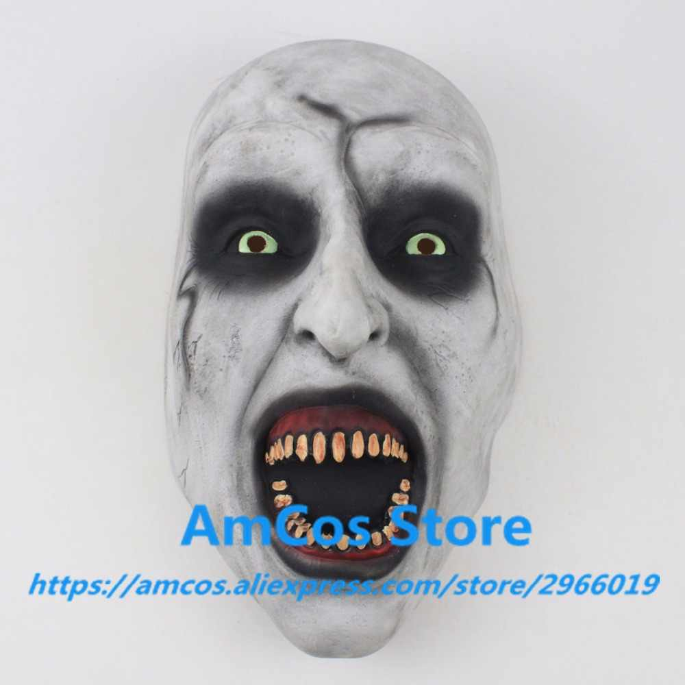 2018 The Nun Horror Mask Cosplay Valak Scary Half Face Latex Masks Helmet Halloween Party Props DropShipping