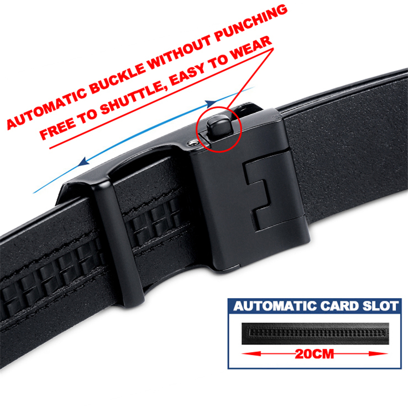 Image 3 - MartinPOLO Men Belt Genuine Leather Automatic Buckle Luxury Brand Male Belts Black Strap Original Natural Cowskin Belts MP01001P-in Men's Belts from Apparel Accessories