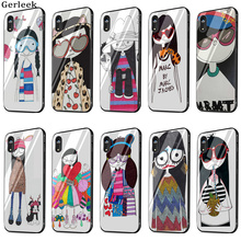 Tempered Glass Case Marc By Marc Jacobs Miss Marc Lovely Girl Popular Cover  For iPhone 6 9e57d662462d