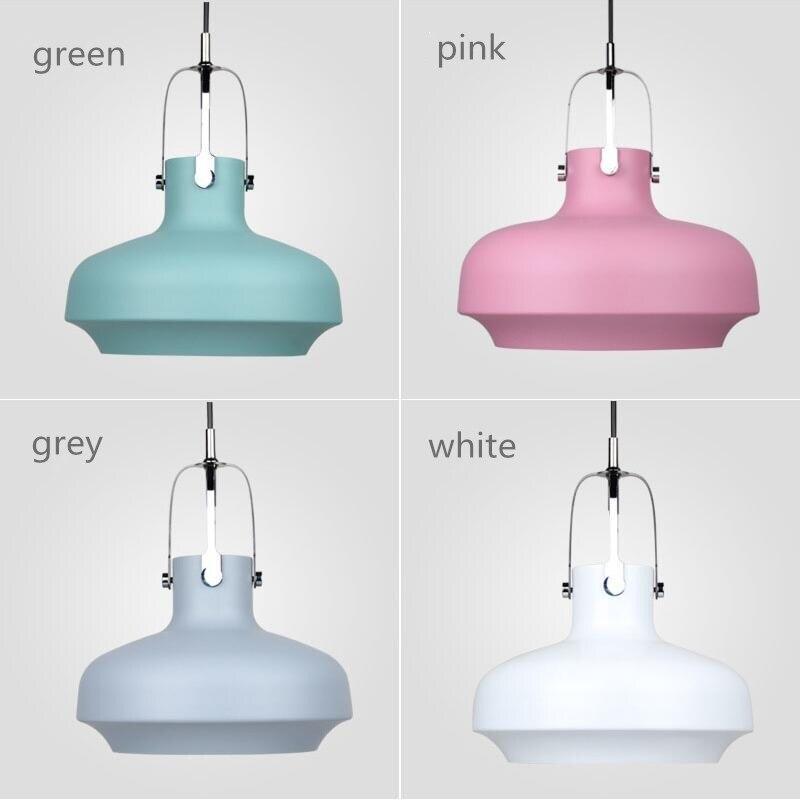 Denmark Designer Space Copenhagen Colorful Aluminium Pendant Lights Lamps Suspension Hanging Lamp Dining Room Restaurant Shop