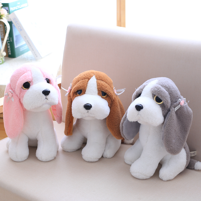 1pc 20cm Cute Big Eyes Dog Plush Toy Kawaii Stuffed Animal Dog Doll Big Eyes Toys for Kids Children Birthday Gift ty collection beanie boos kids plush toys big eyes slick brown fox lovely children gifts kawaii stuffed animals dolls cute toys