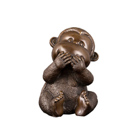 Bronze sitting monkeys sculpture antique monkey statue for sale