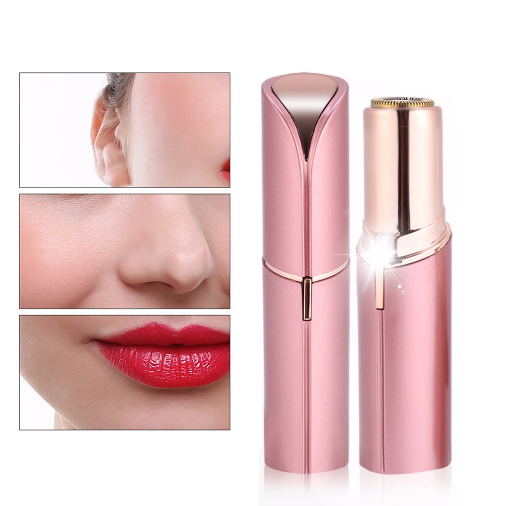 TOHUAN Mini Electric Hair Removal Epilator Women Face Painless Lipstick Shaver Razor Shaving Machine Depilator USB Rechargeable