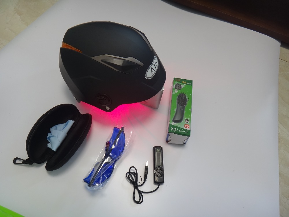 LASER Hair restoration hair regrowth laser helmet with wholesale price with glasses+timer+massage comb