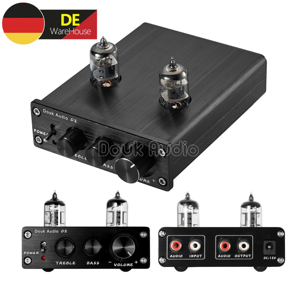 Nobsound 6J1 Valve & Vacuum Tube Pre-Amp Stereo HiFi Buffer Audio Desktop Mini Preamplifier With Treble & Bass 1pcs high quality little bear p5 stereo vacuum tube preamplifier audio hifi buffer pre amp diy new