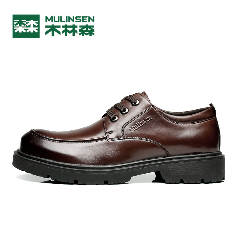 Genuine Leather Men Walking shoes,Handmade Super Men Walking Shoes,High Quality Ankle For Leather Shoes,Mulinsen S260083
