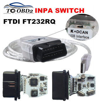 Newest FT232RQ For BMW INPA Ediabas K+DCAN Interface For BMW Series With Switch INPA OBD2 20Pin Diagnosis Easier to Operate image