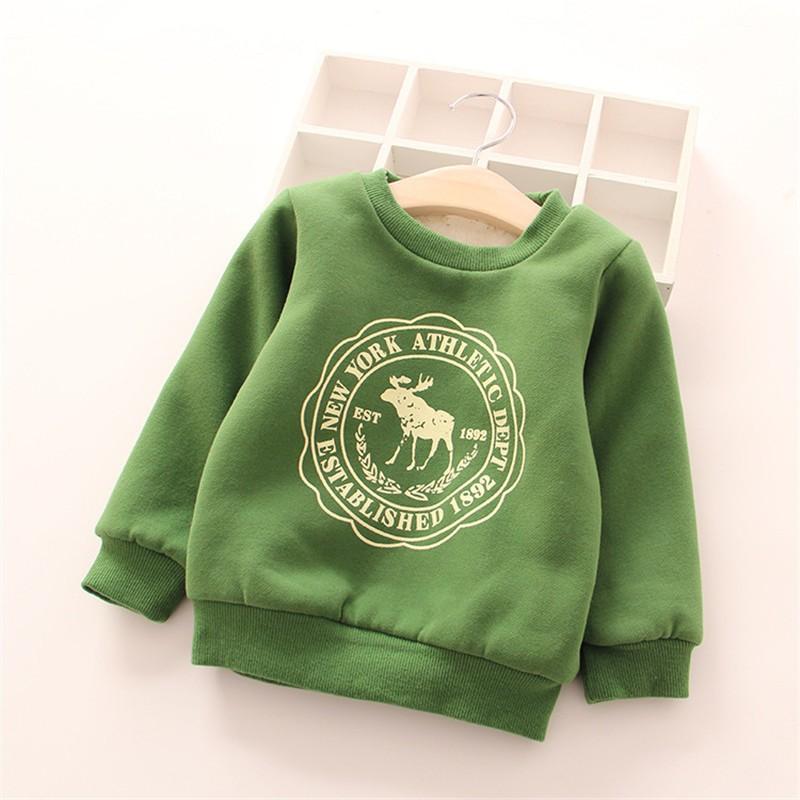 BibiCola Baby Boys Girls Hoodies Clothes Children Winter Thick Sweatshirts Toddler Casual Sweater Kids Plus velvet Tops Costume 1