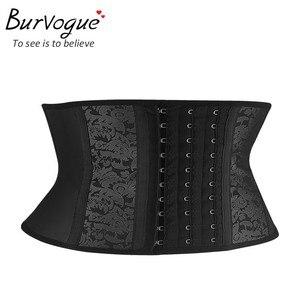 Image 2 - Burvogue corset modelador de cintura, espartilho modelador de osso de aço 9 para cintura, de látex, plus size 6xl