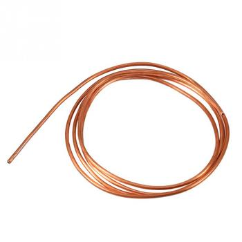OD 4mm ID 3mm Soft Copper Tube Pipe for Refrigeration Plumbing Copper Round Tubing DIY Cooling System 2M sxdool cooling diy new cooling system refrigeration system diy kit set peltier cooler cooling system