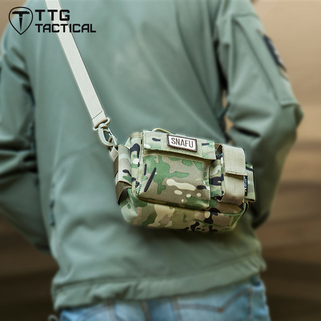 Unisex Military Waist Packs Military Sling Bag with One Shoulder Strap Casual EDC MilitaryFunny Packs