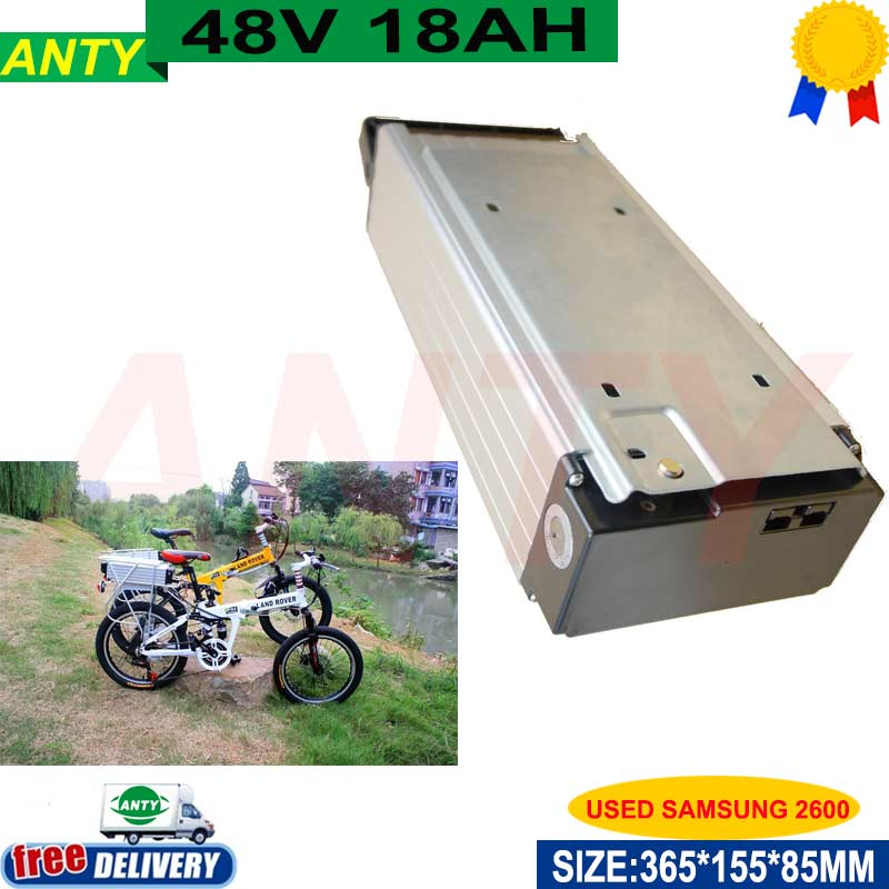 1000w eBike Battery 48v 18ah (samsung 2600) with 2A Charger Built-in 30A BMS Scooter Electric Bike Battery 48v 1000 times Cycles battery 48v 14 5ah 1000w for panasonic cell lithium battery 48v with 2a charger built in 30a bms ebike battery 48v free shipping