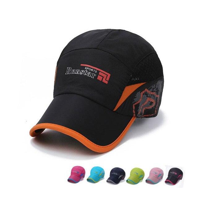 d1261c05031be Ultra thin Runstar quick dry baseball caps Gorras New York hip hop Mesh  Snapback Women Men Anti- UV Climbing NY Sun hats