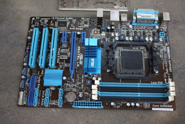 Used,Asus M5A78L LE Original Desktop Motherboard AMD 760G Socket AM3+ DDR3 32G SATA2 USB2.0 ATX