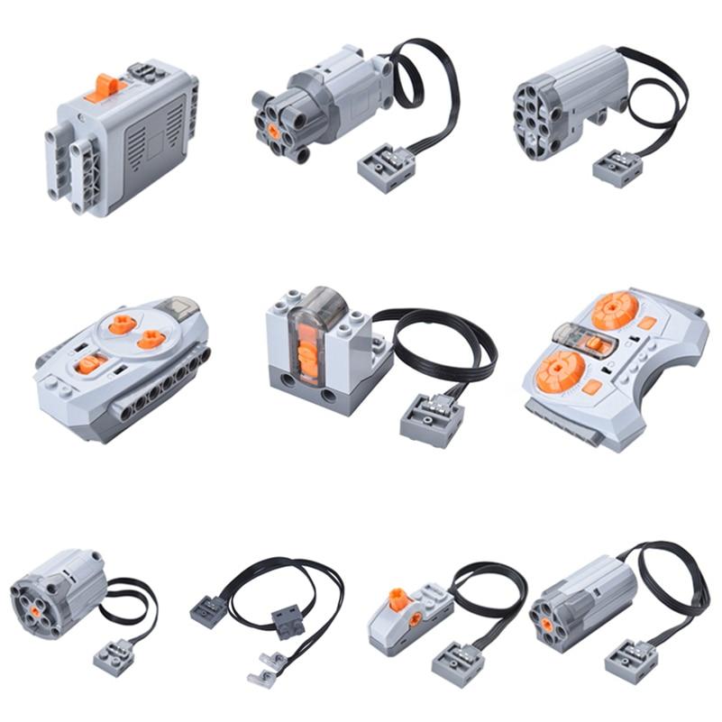 Motor Technic Train Remote Receiver LED Light Battery Box Power Functions Motors 20001 3368 moc bricks 20053 20006 20013 20004 цена