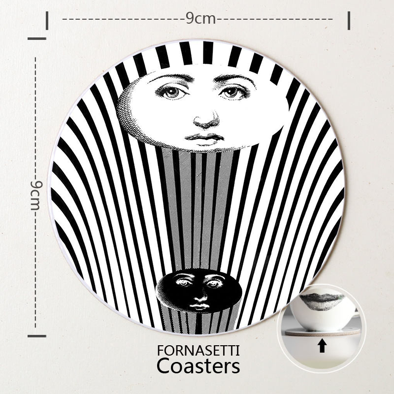 Christmas gifts wood craft fornasetti coasters home decor for Home decor quebec