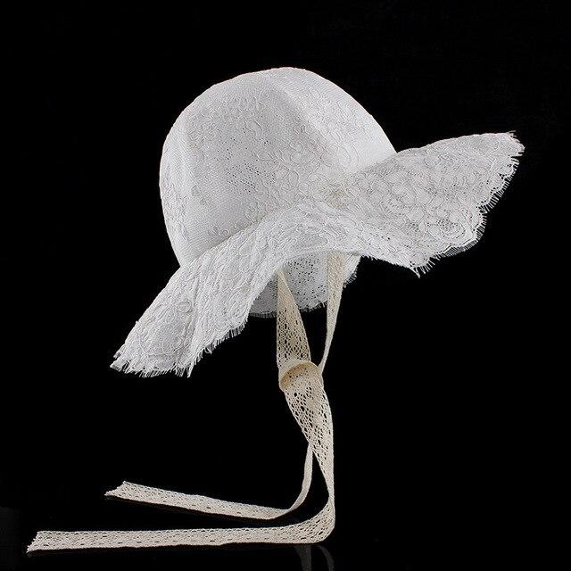 bf35e867f28a99 2018 neue Sommer Im Freien Eimer Hut Frauen Floral Print Panama Kappe Sonne  Strand Schöne Spitze Prinzessin Mädchen Krempe hüte