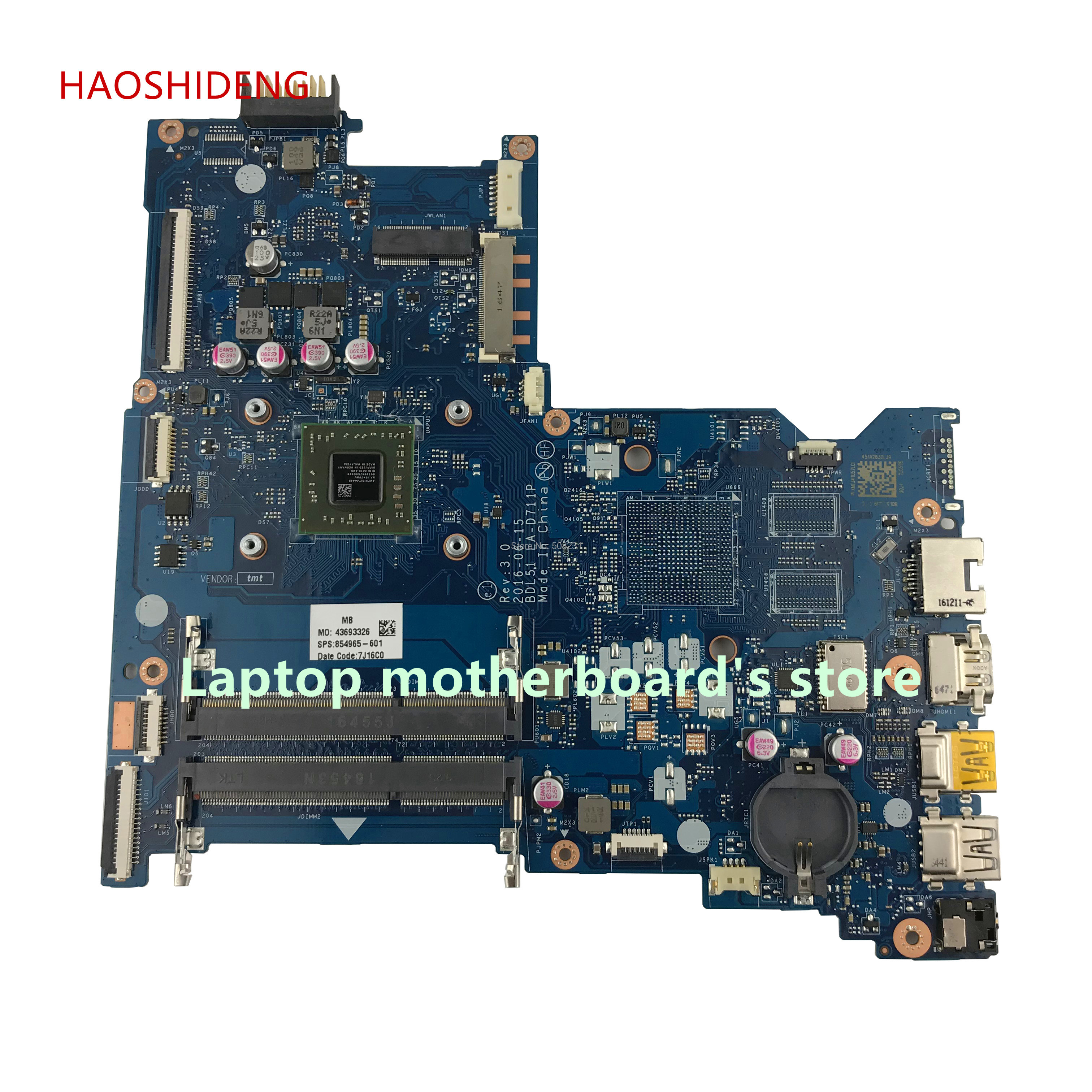 HAOSHIDENG 854965-601 LA-D711P mainboard for HP NOTEBOOK 15-BA 15Z-BA 15-BG 15-BA026CA Laptop motherboard A6-7310 fully Tested electric shock mosquito killer lamp led solar powered camp tent bulb light no radiation mosquito trap waterproof outdoor decor