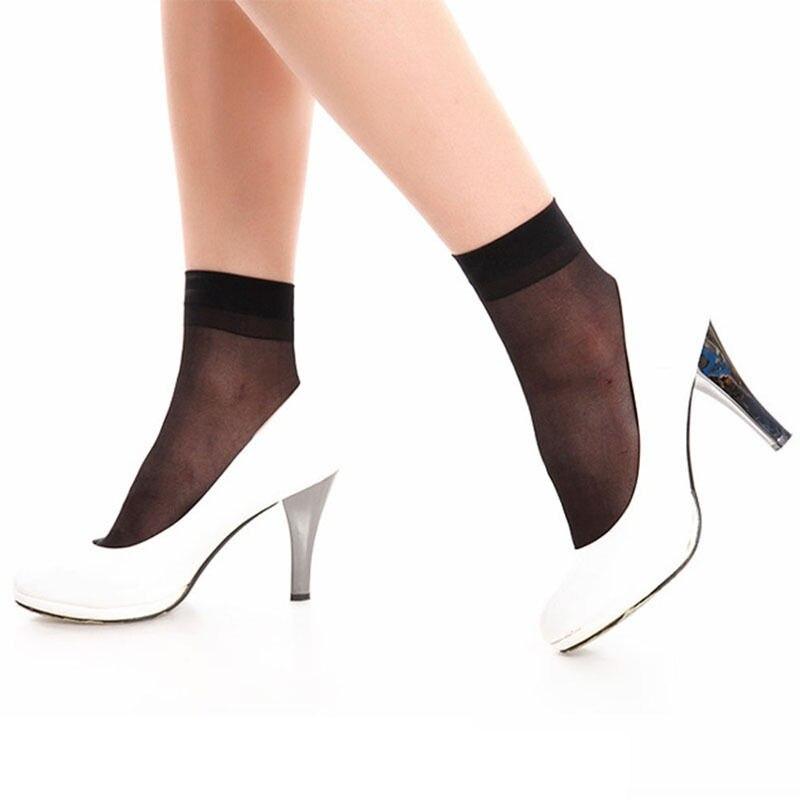 Underwear & Sleepwears Hottest 10pairs Ladies Casual Elastic Short Ankle Sheer Silk Short Socks Socks