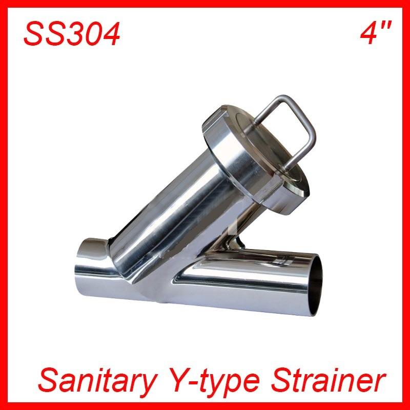 4'' Sanitary Stainless Steel SS304 Y type Filter Strainer f Beer/ dairy/ pharmaceutical/beverag /chemical industry