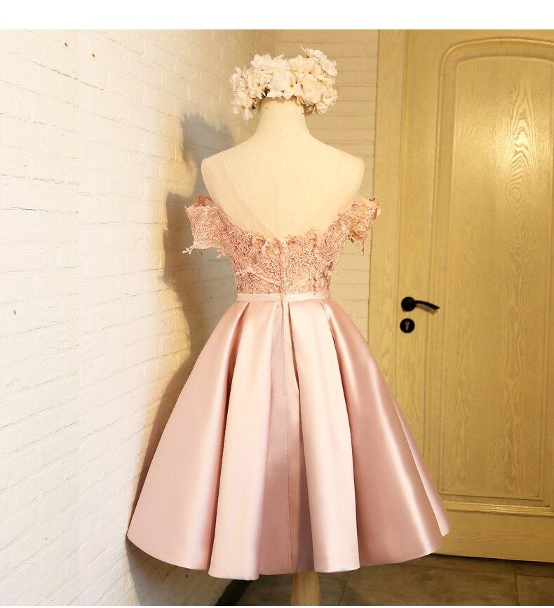 Aswomoye Elegant Kort Aften Kjole 2018 Ny Stilfuld Illusion O-Neck - Særlige occasion kjoler - Foto 2