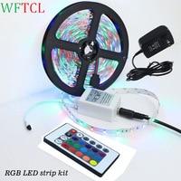 5 M LED Lights Rope Kits 12 V dẫn lampen 2835 smd trắng, trắng ấm, đỏ, xanh lá cây, màu xanh Ruban LED + power adapter cho Nhà Bếp, nhà