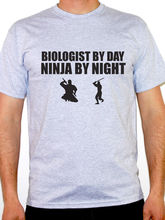Shirt Maker Premium Crew Neck Biologist By Day Ninja By Night Science Novelty Short Sleeve Tee Shirts For Men