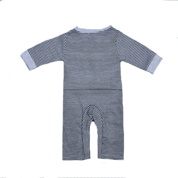 2017 Autumn Clothes Boy Baby Rompers Cartoon Cow Pattern Jumpsuit+Cap Stripe Rompers Brand Newborn Long Sleeve Clothing Girls 5